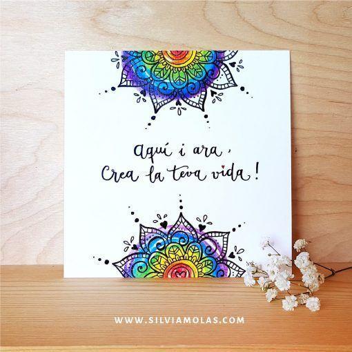 14x14 Aquí i ara Mandala - Silvia Molas