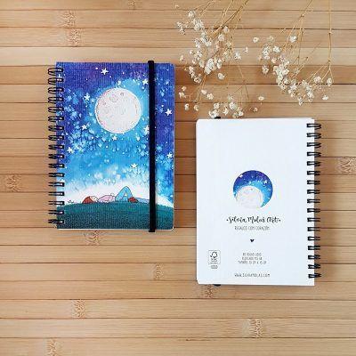 """Llibreta 10x15 cm """"Lluna i nit"""""""