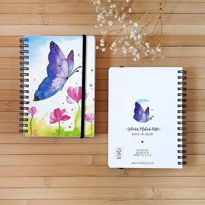 "Llibreta 10x15 cm ""Papallona i flors"""