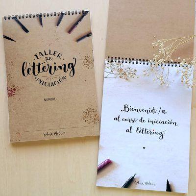 """Dossier """"Taller d'Iniciació al Lettering"""" castellà Silvia Molas"""